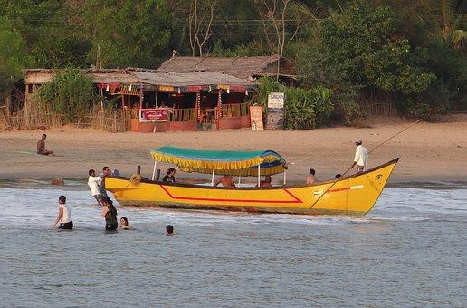 Sea, Arabian, Boat, Boating, Beach, Ocean, Water