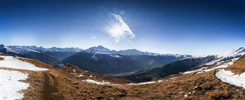 Mountain, Wide View, Panorama, Snow, Autumn, Winter