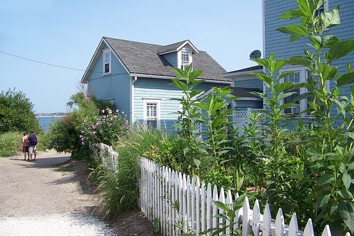Beach House, Beach, Picket Fence, Rhode Island