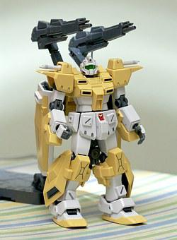 Gundam, Robot, Toy, Plastic, Japan, Gunpla, Yellow