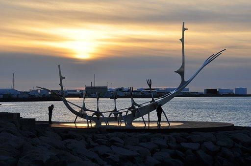 Reykjavik, Iceland, Nave, Sculpture, Viking, Solfar
