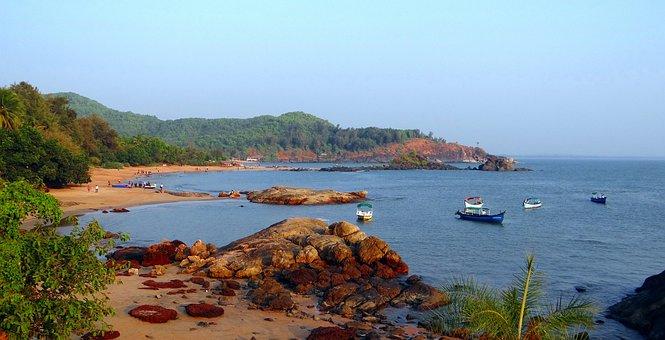 Sea, Arabian, Rocks, Coast, Beach, Sand, Scenic