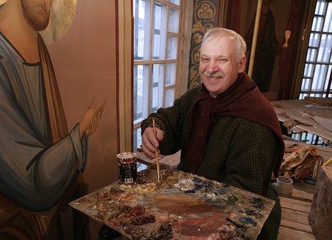 Painter, Artist, Painting, Palette, Master, Smile