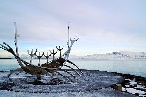 Viking Ship Statue, Sun Voyager, Reykjavik, Port