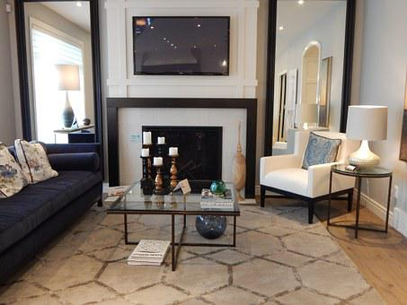 Living Room, Table, Chair, Fireplace, Room, Interior