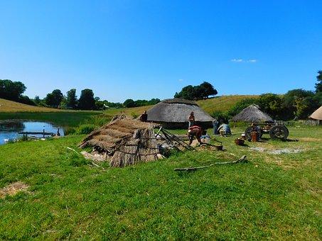 Viking Park, Vikings, Denmark, Huts, Viking Museum