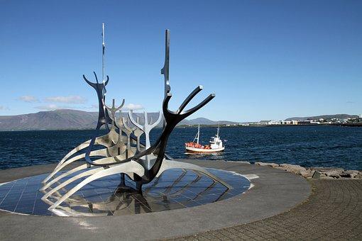 Reykjavik, Iceland, Viking Ship, Sólfar, Sun Voyager