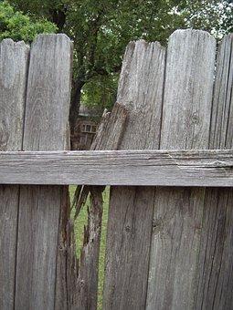 Fence, Wood, Broken, Board, Pattern, Rough, Natural
