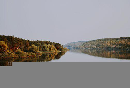 River, Forest, Autumn, Fall, Nature, Trees, Water