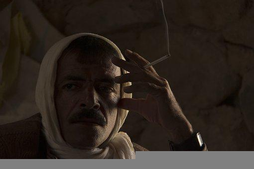 Baloch Man, Smoking, Man, Iran, Portrait