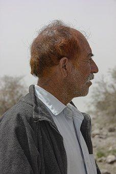 Man, Portrait, Male, Boy, Baloch People, Village, Day