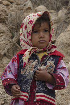 Kid, Portrait, Girl, Baby, Child, Baloch People