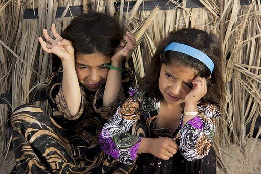 Girls, Children, Baloch, Kids, Young, Iranian, Persian