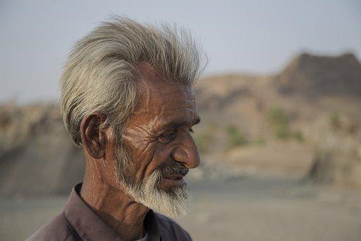Old Man, Face, Portrait, Man, Senior, Elderly, Profile