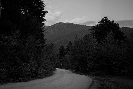 Road, Countryside, Rural, Nature, Woods, Mountains