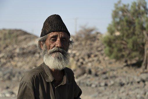 Man, Senior, Baloch, Portrait, Elderly, Old Man, Nomad