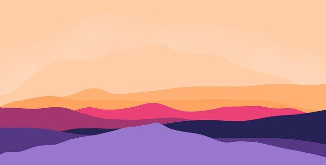 Mountains, Landscape, Nature, Colorful Wallpaper