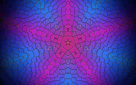 Rosette, Mandala, Mosaic, Ornament, Wallpaper, Decor