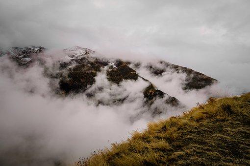 Fog, Mountains, Romania, Landscape