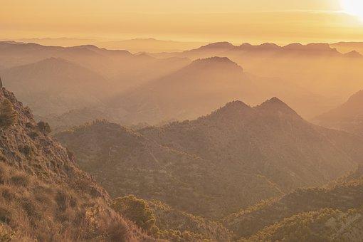 Landscape, Mountains, Sky, Fog, Morning