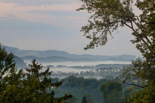 Fog, Mountains, Hills, Landscape, Morning Mist
