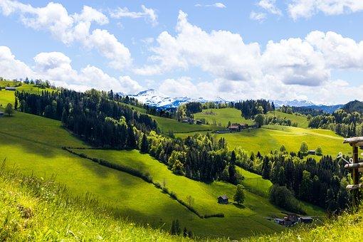 Hills, Switzerland, Mountains, Landscape, Nature