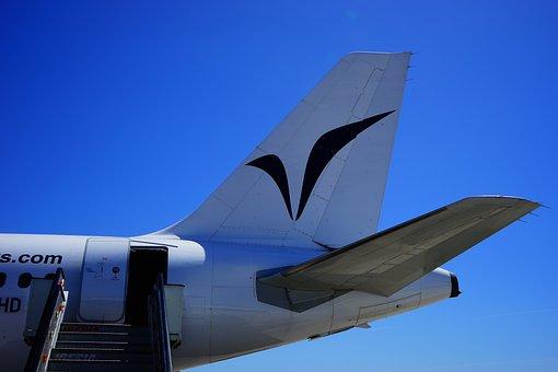 Aircraft, Rear, Gangway, Exit, Rudder, Elevator
