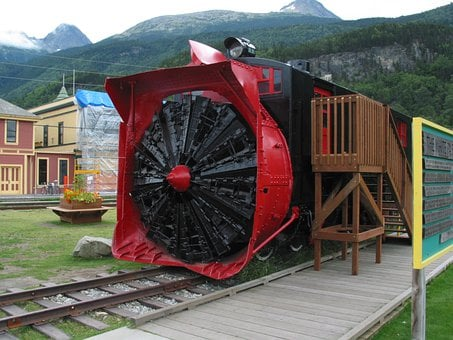 Alaska, Skagway, Locomotive, Steam Locomotive, Monument