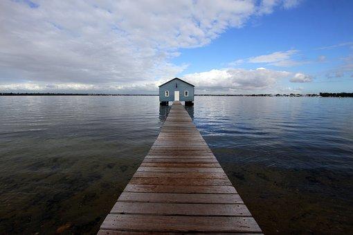 Australia, Perth, Wa, City, Sky, Architecture, Water