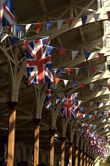 Union Jack, Bunting, Flags, Market, Pannier, Barnstaple