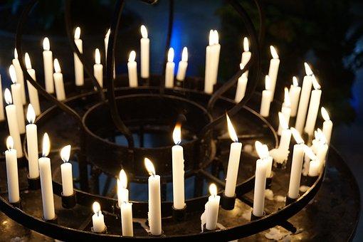 Candles, Light, Church, Religion, Tuttlingen, Catholic