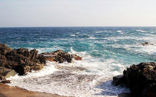 Costa Brava, Sea, Mediterranean, Blue, Beach, Rocks