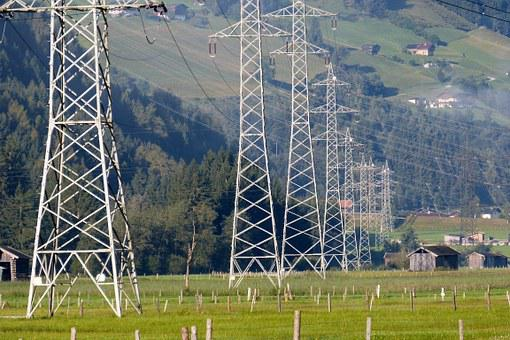 Power Line, Power Poles, Current Highway, E-business