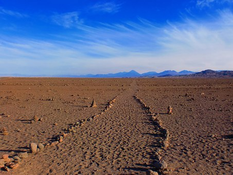 Inca, Path, Desert, Sand, Mountain, Stones