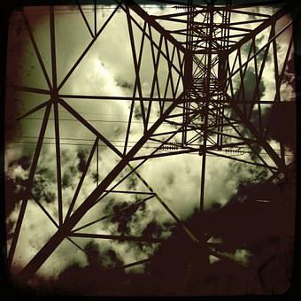 Electrical Tower, Design, Black And White, Electrical