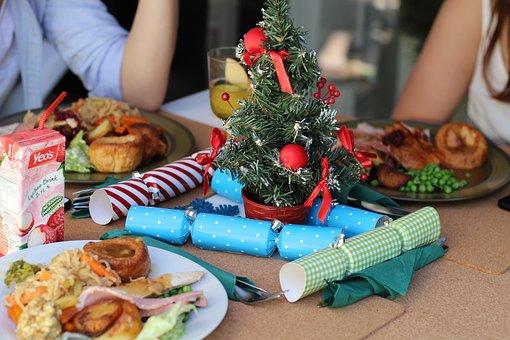 Christmas, Dinner, Table, Food, Decoration, Holiday