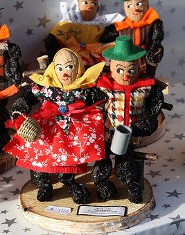 Christmas Market, Nuremberg, Figures, Males, Dolls