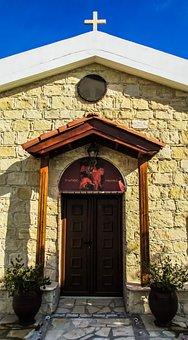 Cyprus, Avgorou, Ayios Mamas, Church, Door