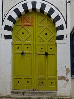 Door, Arabesque, Tunis, The Madina, Tunisia