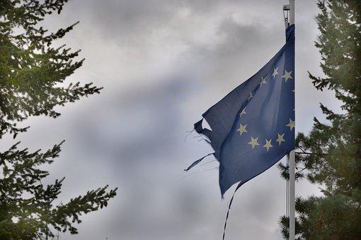 Europe, Torn, Flag, Eu, European, Theme, Union, Wind