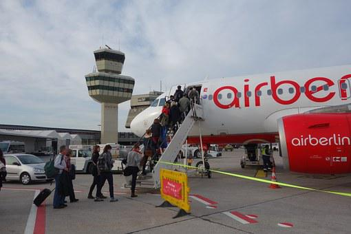 Airport, Airberlin, Airliner, Aircraft, Gangway, Entry