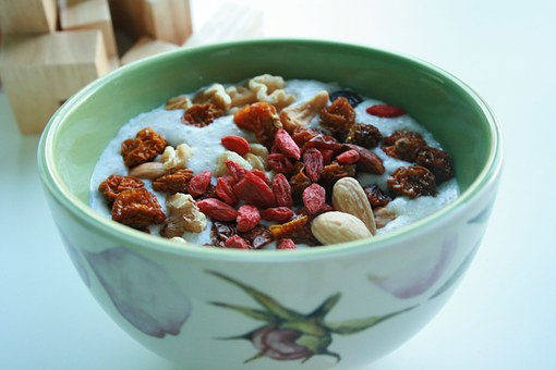 Goji Berries, Almond, Oatmeal, Breakfast, Inca Berries