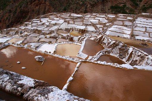 Peru, Inca, 1000 Years Old, Salt Terraces Of Maras