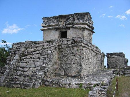 Mexico, Tulum, Ancient, Yucatan, Landmark, Archeology