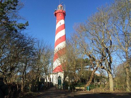 Lighthouse, White, Red, Heritage, Light, Beacon, Coast