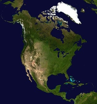 North America, Continent, America, Satellite Image