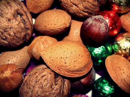 Almonds, Nuts, Hazelnut, Walnut, Balls, Nibble