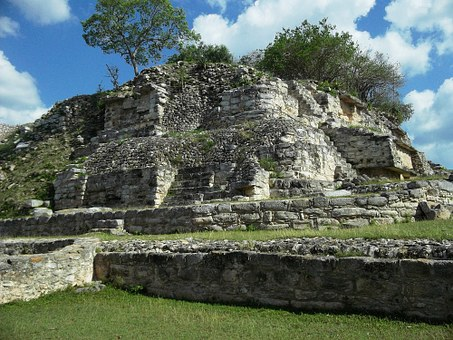 Aké, Yucatan, Mexico, Ruins, Building, Old, Ancient