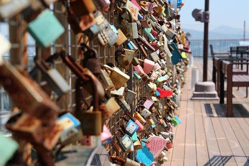 Lock, Key, Promise, Love, Lovers, Park, Metal, Season