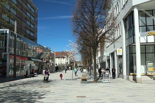 Böblingen, City, Shopping Street, Pedestrian Zone